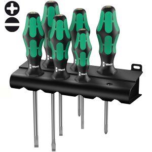 Набор отверток WERA Kraftform Plus Lasertip 334/6 Rack 105650