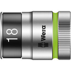 """8790 HMC HF Торцевая головка 18 мм для ключа-трещотки Zyklop c 1/2"""" с функцией фиксации WERA 003738"""