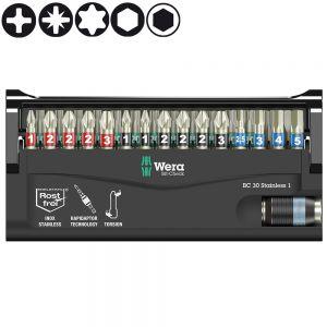 Набор WERA Bit-Check 30 Stainless 1, нержавеющая сталь 071109
