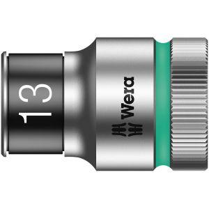 """8790 HMC HF Торцевая головка 13 мм для ключа-трещотки Zyklop c 1/2"""" с функцией фиксации WERA 003733"""