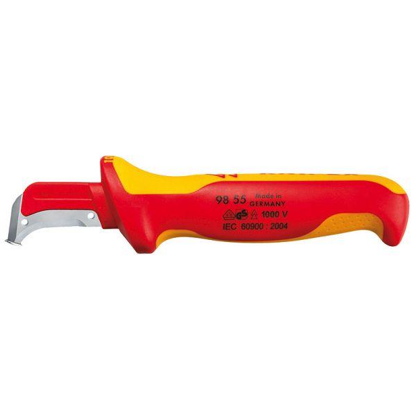 Нож с пяткой для снятия изоляции KNIPEX 98 55