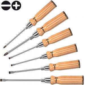 Набор отверток WERA 930/935/6  с деревянной ручкой 018251