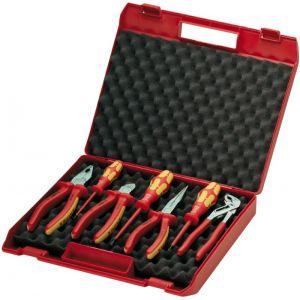 Чемодан пластиковый с инструментом для электромонтажа 7 предметов KNIPEX 00 21 15