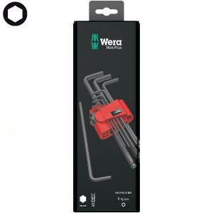 Набор Г-образных ключей WERA метрических BlackLaser 950 PKL/9 BM N SB 073596