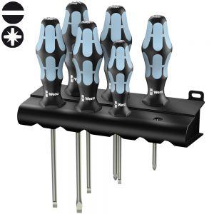 Набор отверток WERA 3334/3355/6, нержавеющая сталь, 6 шт. + подставка 032061