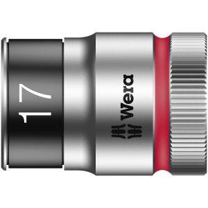 """8790 HMC HF Торцевая головка 17 мм для ключа-трещотки Zyklop c 1/2"""" с функцией фиксации WERA 003737"""