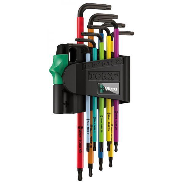 Набор Г-образных ключей WERA 967 SPKL/9 TORX® BO Multicolour BlackLaser 024335