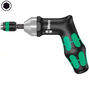 Динамометрическая отвертка WERA 7400, регулируемая с предварительными настройками 25,0-55,0 in. lbs., с быстрозажимным патроном Rapidaptor, пистолетная ручка 074721