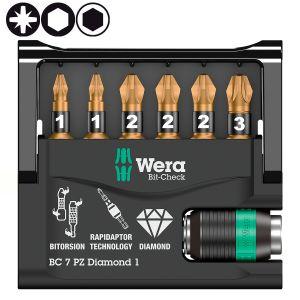 Bit-Check 7 PZ Diamond 1 SB WERA 073534 упаковка блистер