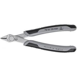 Кусачки для электроники прецизионные антистатические Electronic Super Knips ® KNIPEX 78 03 125 ESD