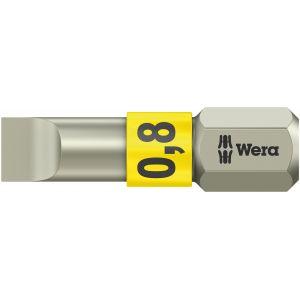 Бита WERA 3800/1 TS для винтов со шлицем 0,8/25 мм, нержавеющая сталь 071000