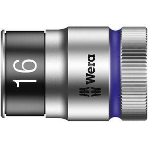 """8790 HMC HF Торцевая головка 16 мм для ключа-трещотки Zyklop c 1/2"""" с функцией фиксации WERA 003736"""