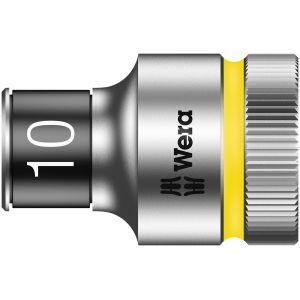"""8790 HMC HF Торцевая головка 10 мм для ключа-трещотки Zyklop c 1/2"""" с функцией фиксации WERA 003730"""