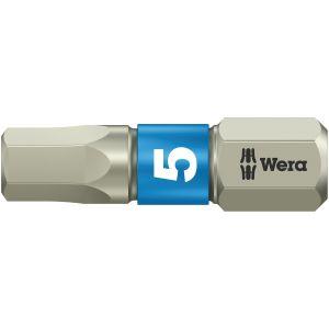 Бита WERA 3840/1 TS шестигранник 5/25 мм, нержавеющая сталь 071075