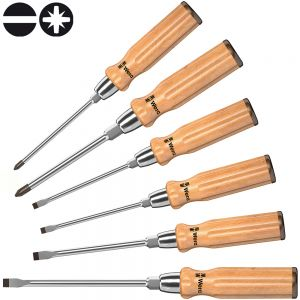 Набор отверток WERA 930/955/6 с деревянной ручкой 137810