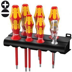 Набор отверток диэлектрический WERA  Kraftform Plus 160 i/7 Rack , 006147 АКЦИЯ!!!