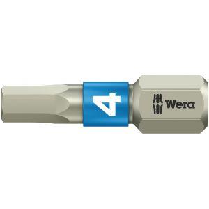 Бита WERA 3840/1 TS шестигранник 4/25 мм, нержавеющая сталь 071074
