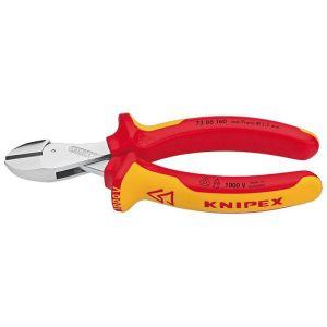 Компактные кусачки боковые X-Cut диэлектрические KNIPEX 73 06 160