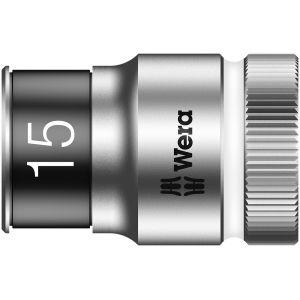 """8790 HMC HF Торцевая головка 15 мм для ключа-трещотки Zyklop c 1/2"""" с функцией фиксации WERA 003735"""